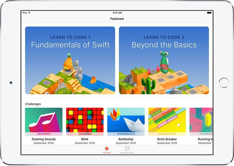 Swift Playgrounds per iPad