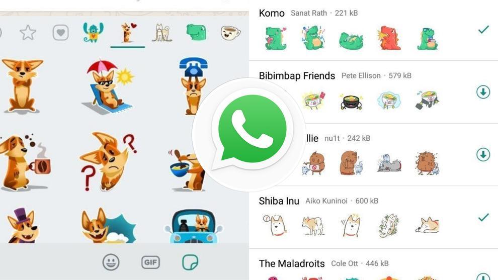 gli adesivi sono creati dai designer di WhatsApp insieme ad alcune selezioni di altri artisti. WhatsApp ha anche aggiunto il supporto per le app di adesivi di terze parti su Android e iOS,