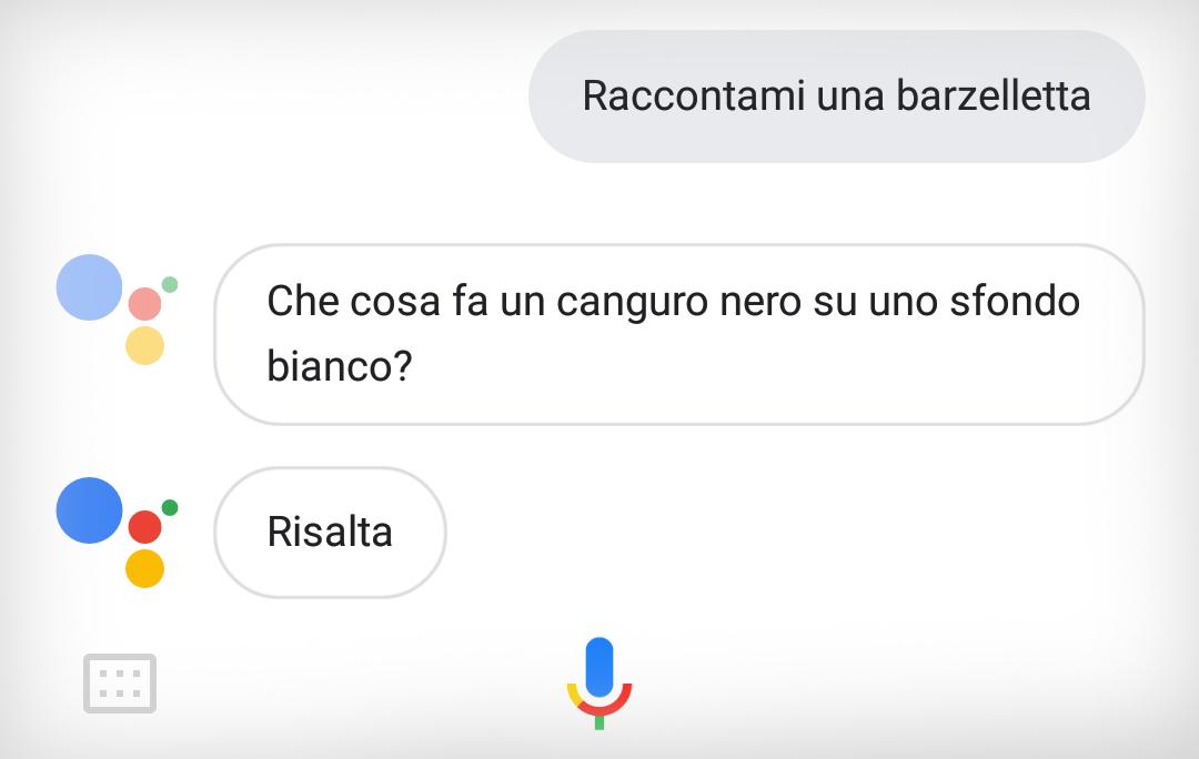 Assistente Google Barzellette