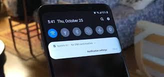 Aggiornamento Galaxy S9 Pie