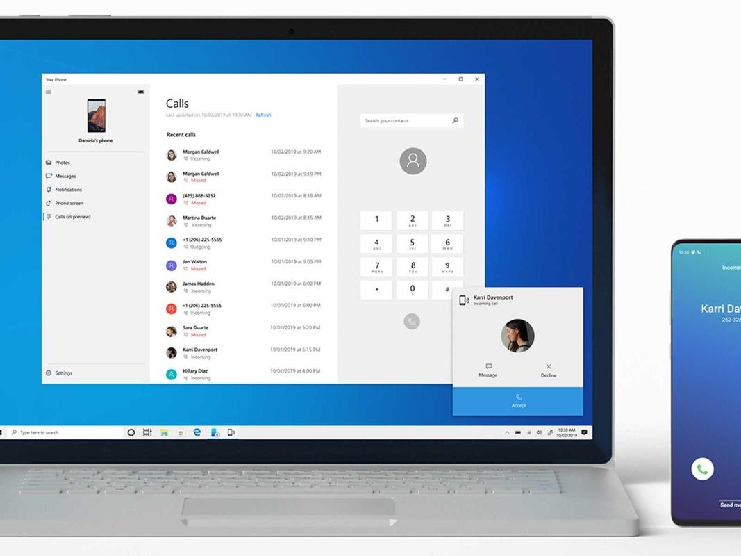Per usufruire del nuovo servizio in associazione co l'aggiornamento Windows che ti consente di rispondere alle chiamate Android su un PC