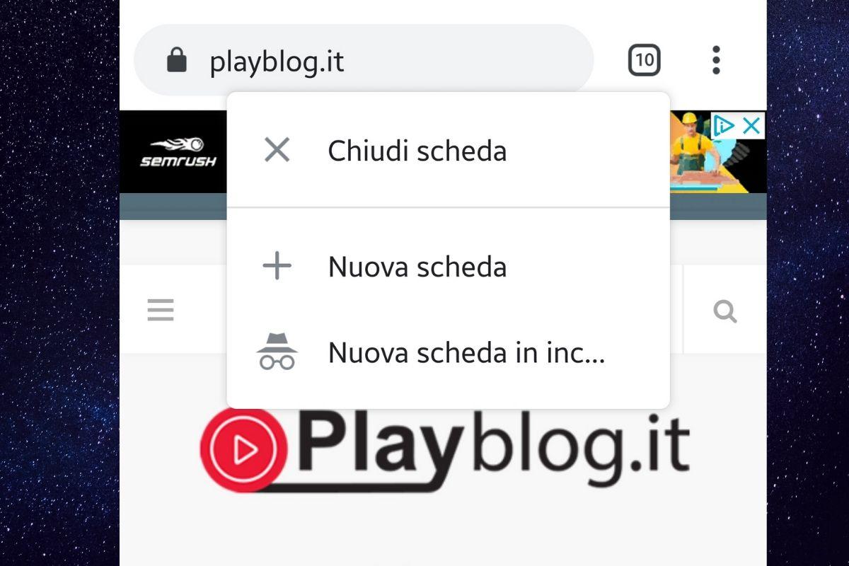 Nuove scorciatoie per le schede di Chrome su Android