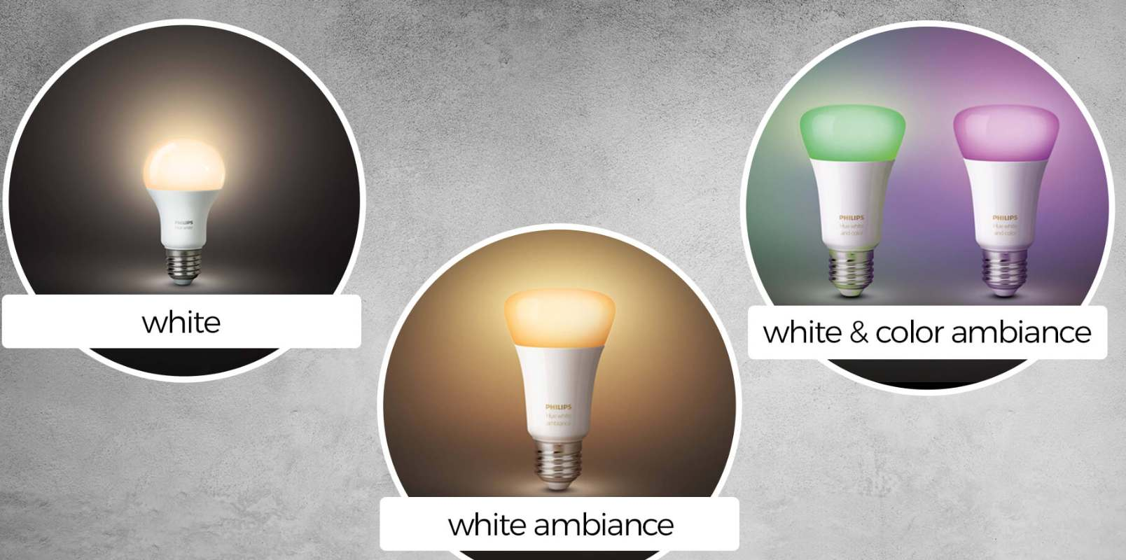 philips hue differenze white ambiance color
