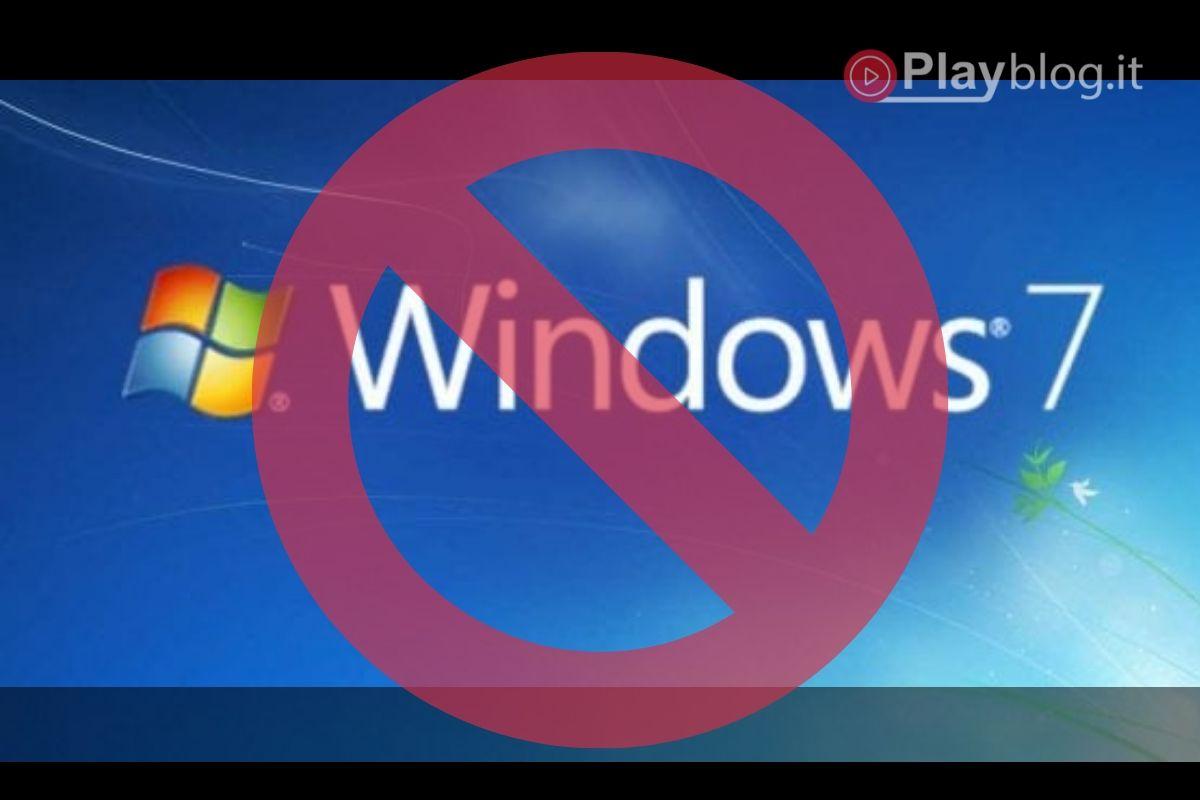 Microsoft elimina il supporto per Windows 7