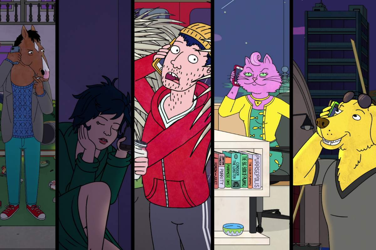 copertina con personaggi di bojack horseman stagione 7