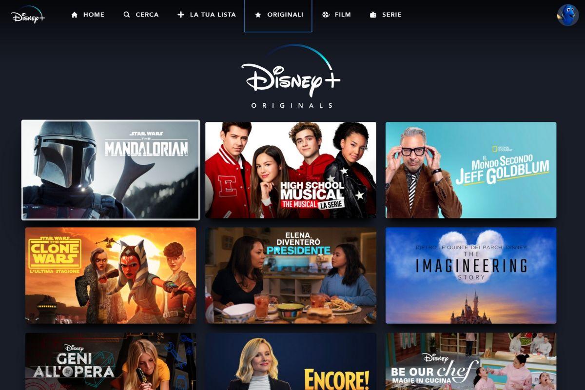 Disney+ guida ai contenuti disponibili per lo streaming