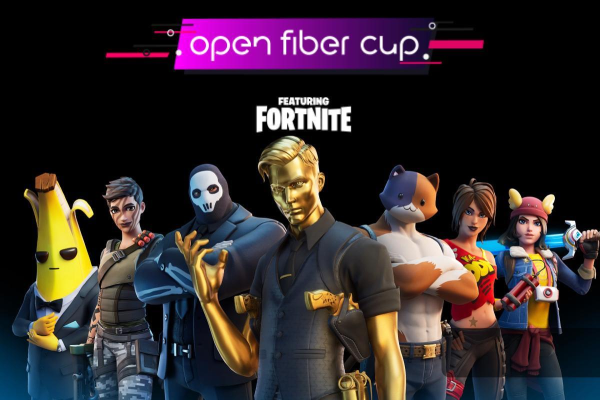Fortnite scende nell'arena, nasce la Open Fiber cup! ospite speciale CiccioGamer