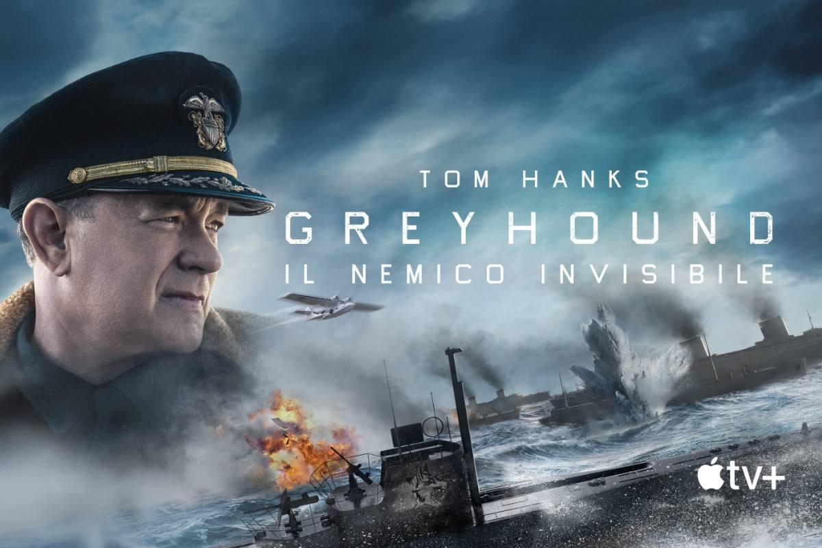 copertina Tom Hanks Greyhound il nemico invisibile apple tv plus