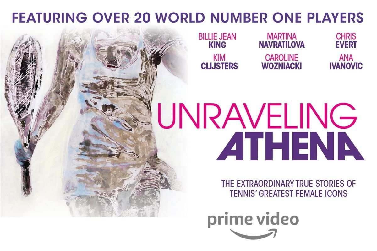 copertina unraveling athena film documentario tennis amazon prime video