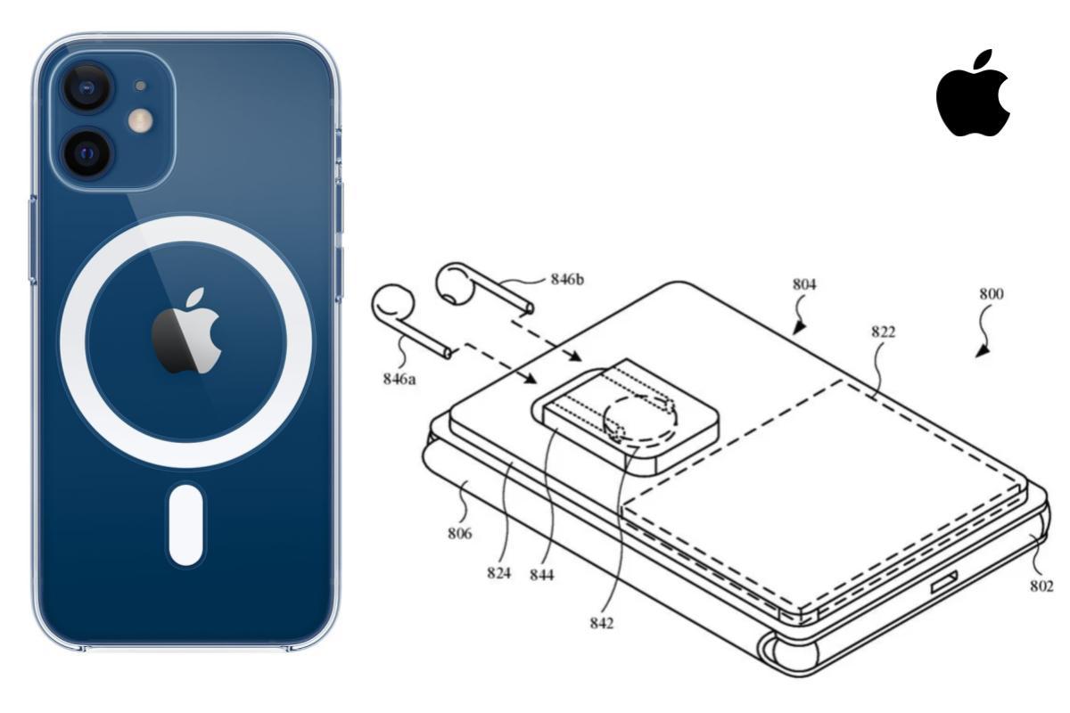 Il brevetto Apple mostra una custodia MagSafe che può caricare iPhone e AirPods insieme