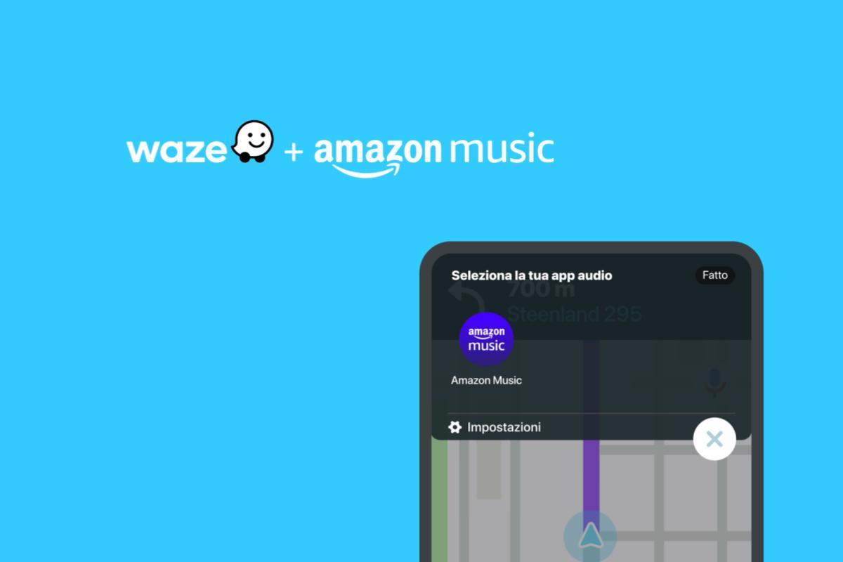 Waze annuncia l'integrazione di Amazon Music come nuovo partner di Waze Audio Player