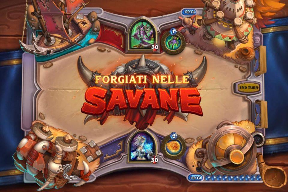 L'anno del Grifone di Hearthstone inizierà con l'espansione Forgiati nelle Savane