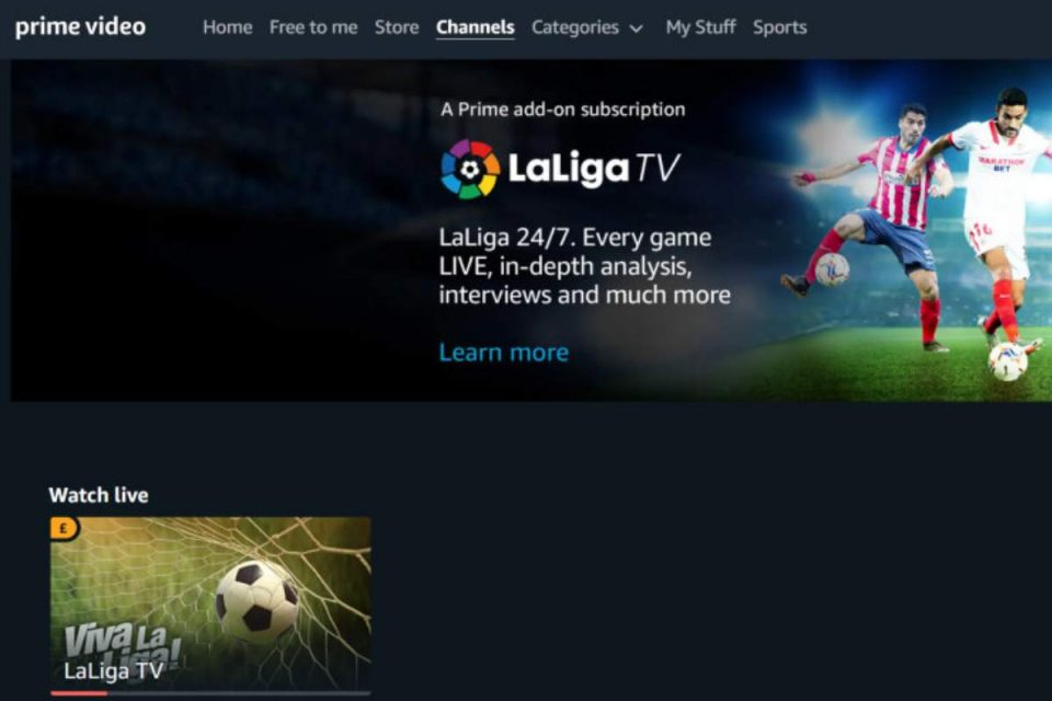 amazon prime video la liga tv calcio