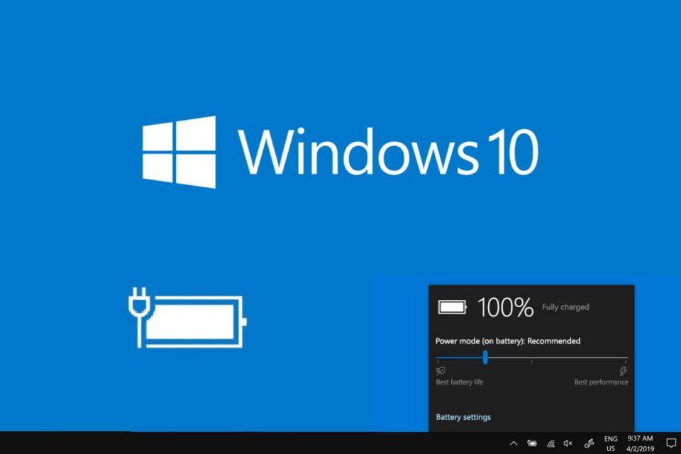 Windows 10 ottiene una nuova funzionalità per risparmiare la batteria dei laptop