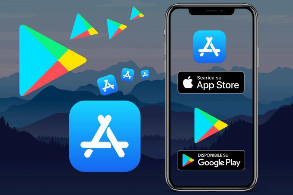 Evoluzione di App Store di Apple e di Google Play Store