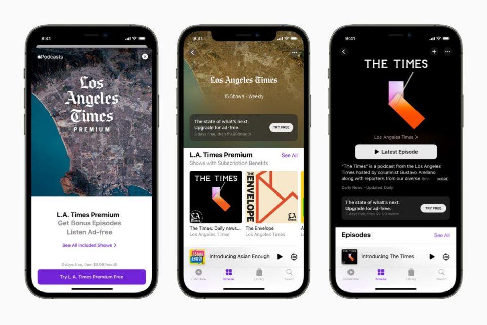 Apple Podcasts Subscriptions e i canali sono ora disponibili in tutto il mondo