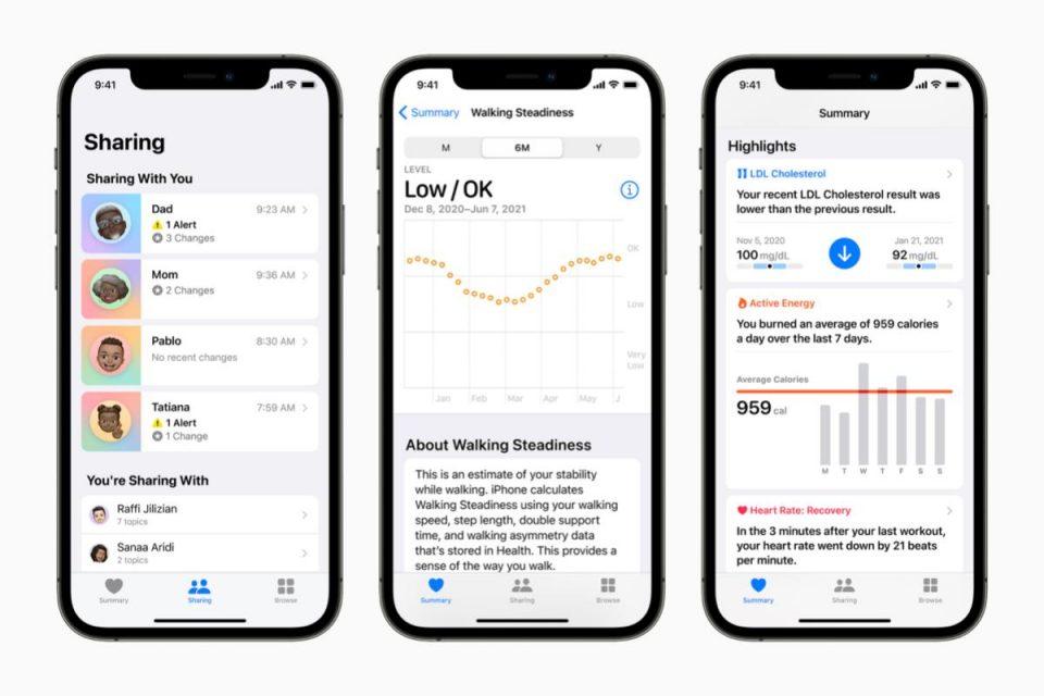 Apple migliora la gestione della salute personale con opzioni di condivisione sicura