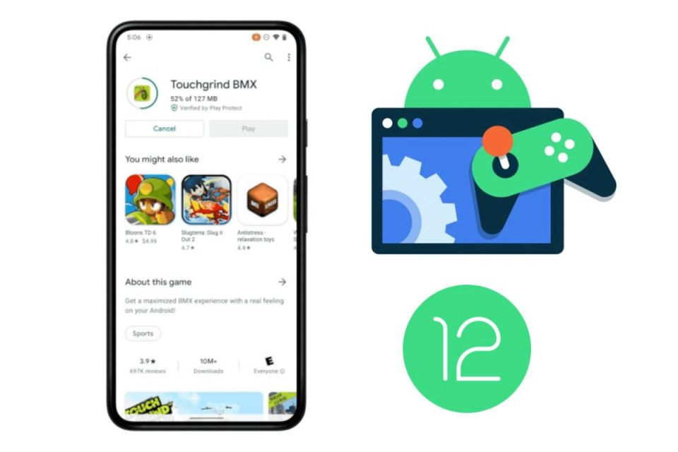 Android 12 ti consentirà di iniziare a giocare durante il download