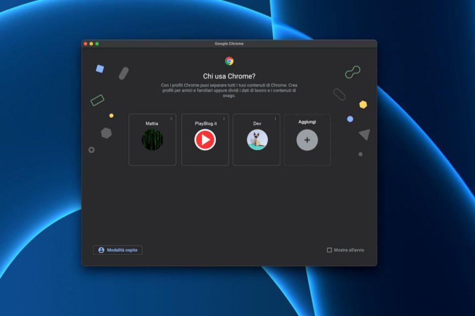 Un modo semplice su Mac per avere icone dock separate per diversi profili Chrome