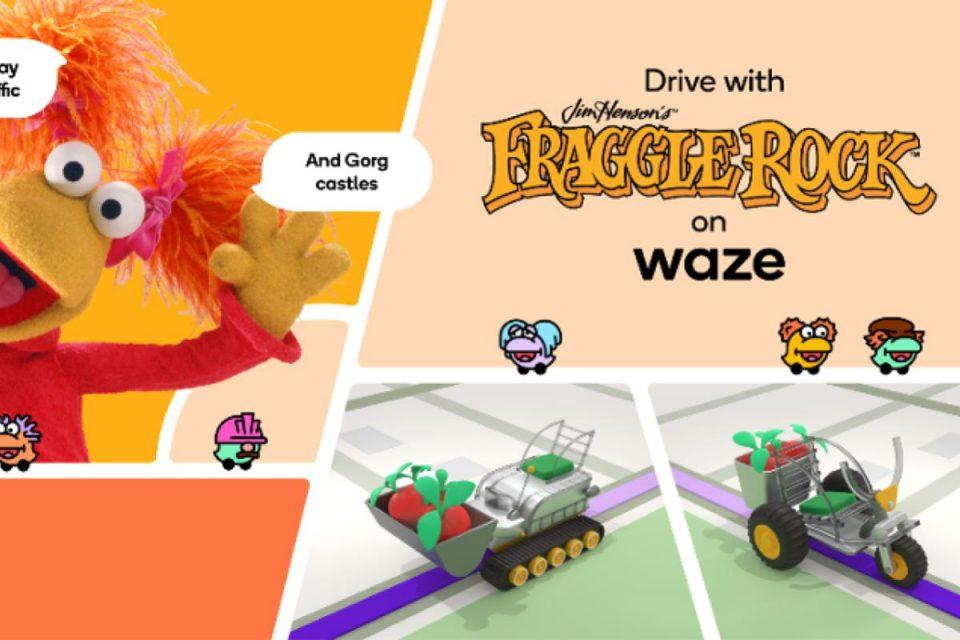 Waze: allontanate le preoccupazioni e divertitevi in viaggio con Fraggle Rock