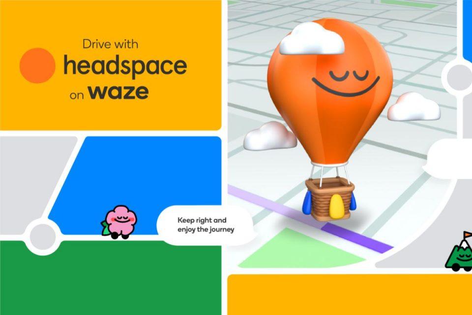 Waze e Headspace insieme per allietare il viaggio in auto e sconfiggere lo stress alla guida